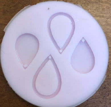 Tear Drop Earrings Silicone Mold