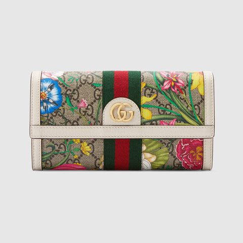 Ophidia GG Flora continental wallet