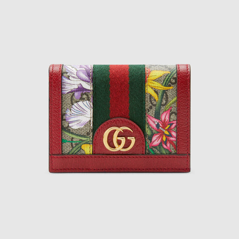 Ophidia GG Flora card case wallet