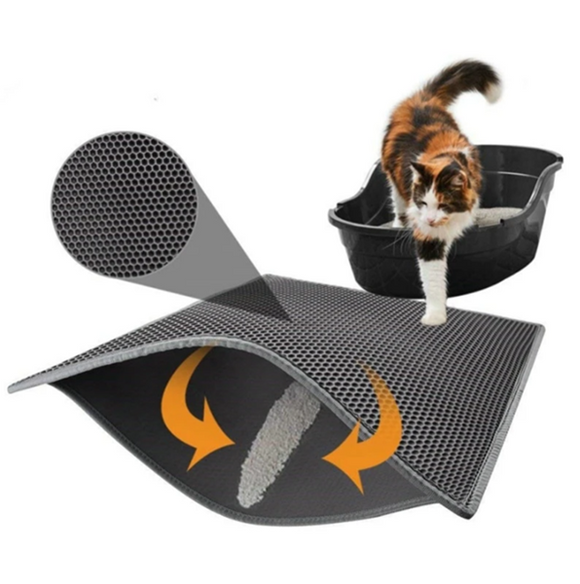Mat Waterproof EVA, Double Layer under Cat Litter Trapping Pet - Hygienic Product