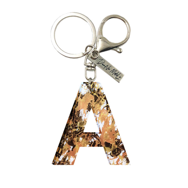Keychain - Letters - Golden Nugget