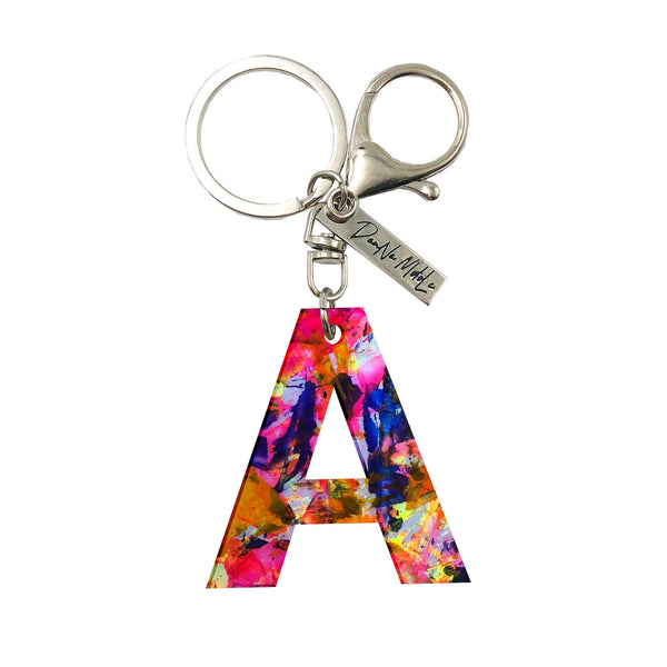 Keychain - Letters - Neon Colors