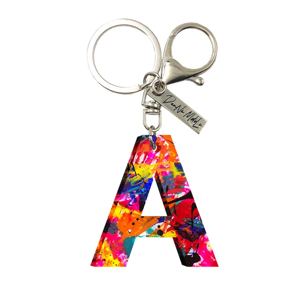 Keychain - Letters - Multicolor Pink