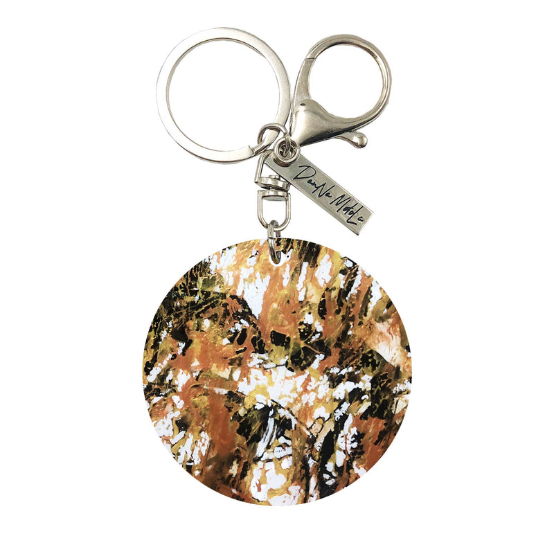 Keychain - Circle - Golden Nugget