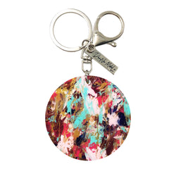 Keychain - Circle - Watercolor