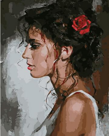 Woman Portrait - Paint by Numbers Kits for Adults