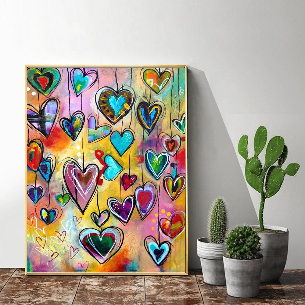 Love Heart Full Square - 5d Diamond Painting Kit