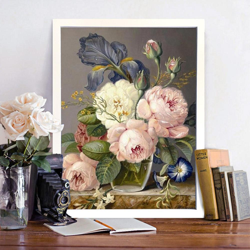 Vintage Flower Vase Setting - 5d Diamond Painting Kit