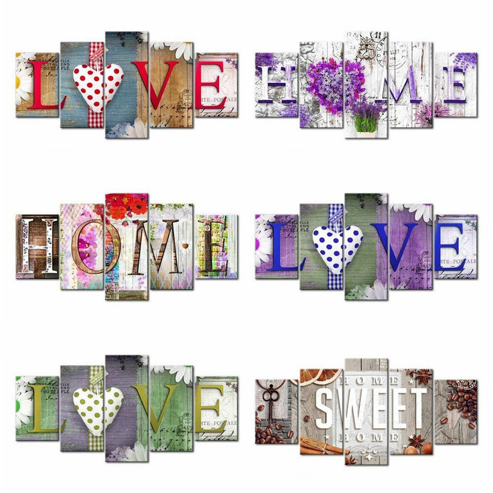 Love Art Sign Collection - 5d Diamond Painting Kit