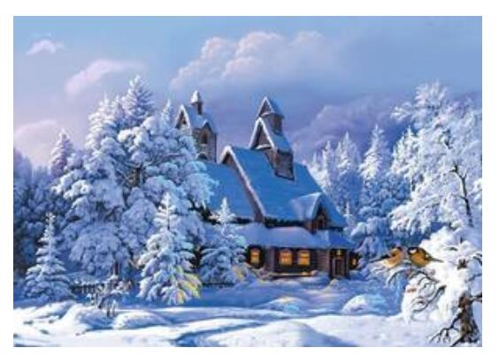 Snow Chalet - Paint by Numbers Kits