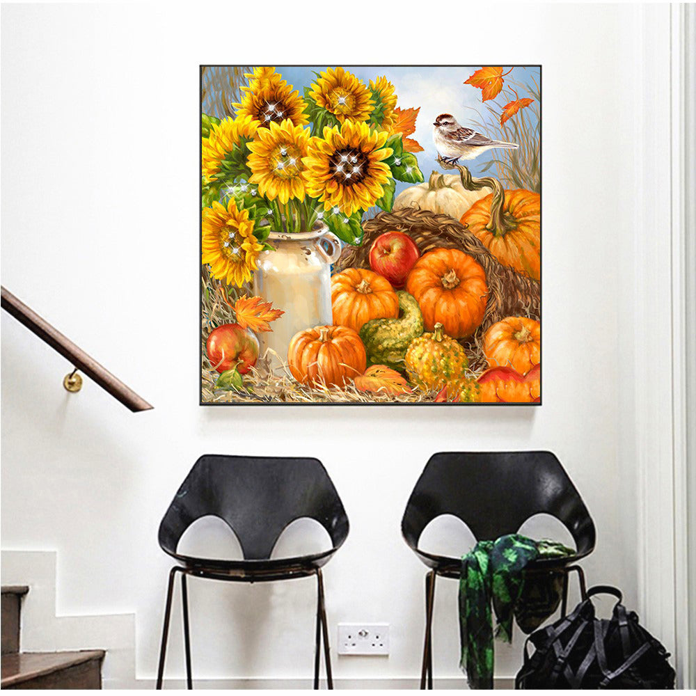 Sunflowers And Pumpkins - 5d Diamond Painting Kit