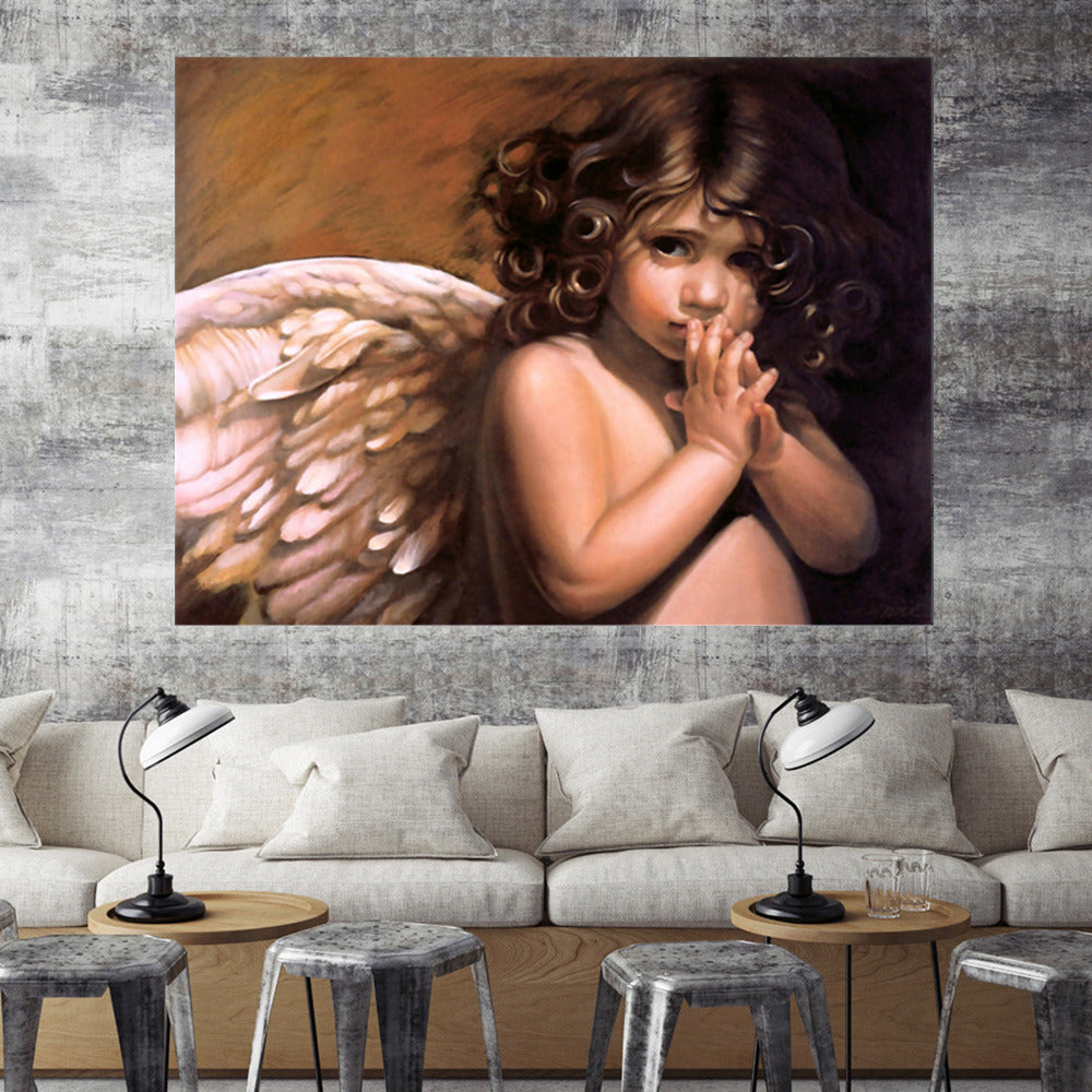 Baby Angel Illustration - 5d Diamond Painting Kit