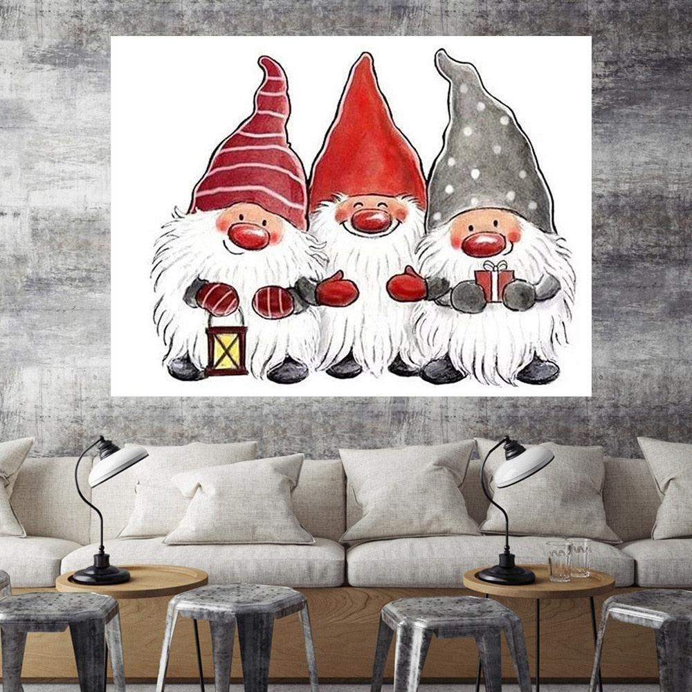 Three Little Santas - 5d Diamond Painting Kit
