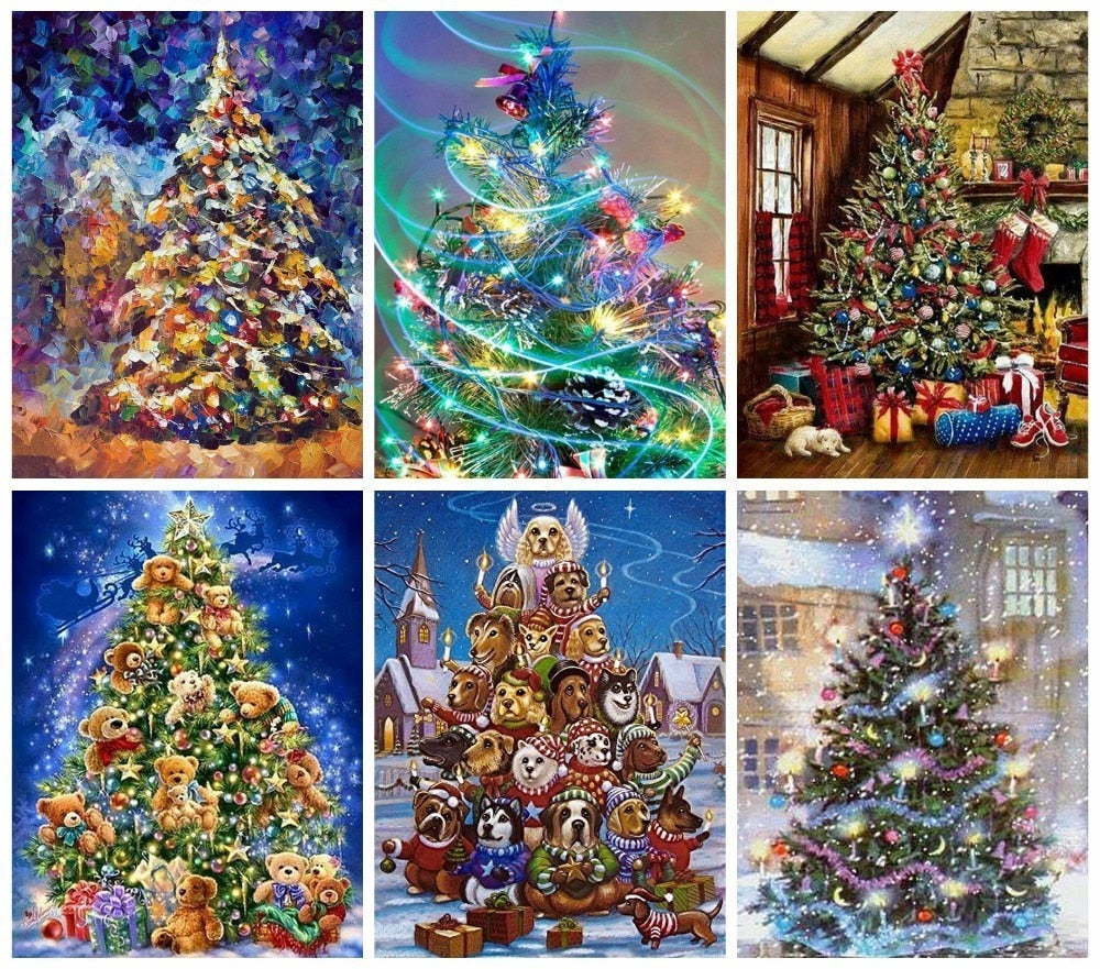Decorated Christmas Collage - 5d Diamond Painting Kit
