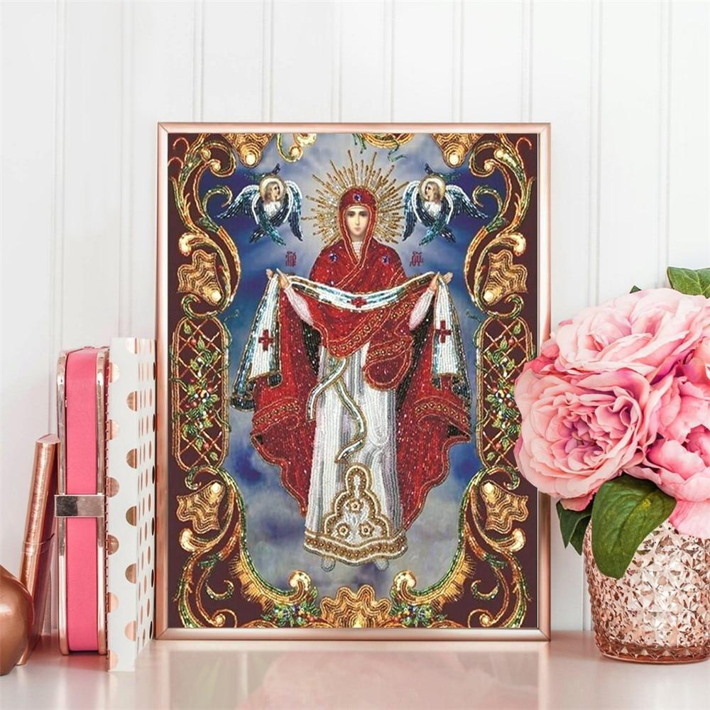 Full Square Saint Illustration - 5d Diamond Painting Kit