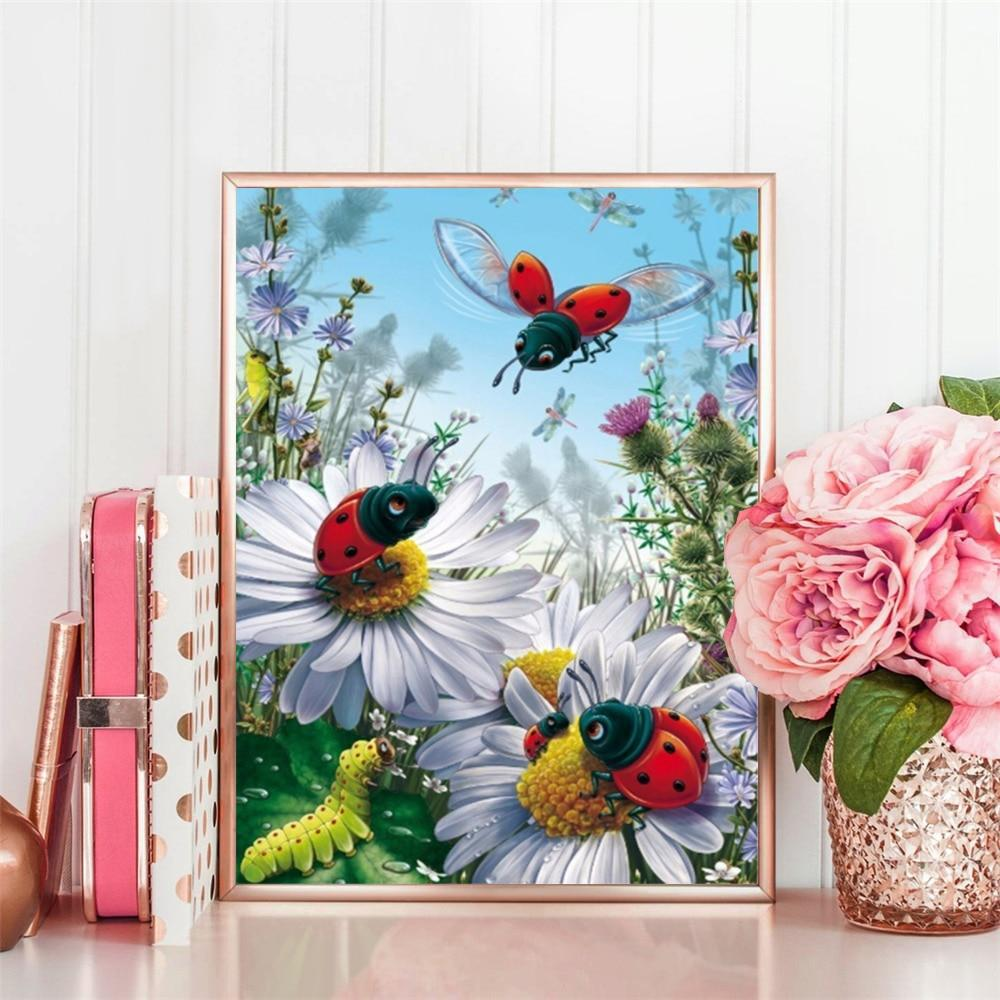 Animated Ladybugs - 5d Diamond Painting Kit