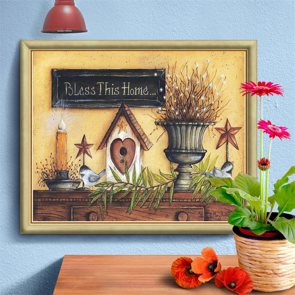 Bless This Home - 5d Diamond Painting Kit