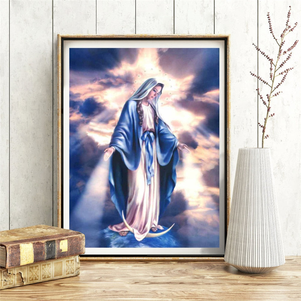 Mosaic Virgin Mary - 5d Diamond Painting Kit