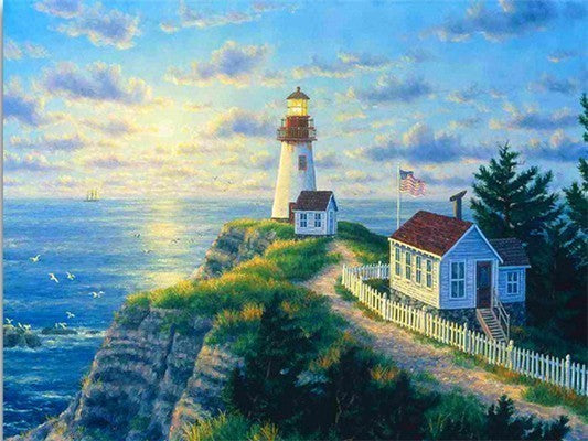 Lighthouse 40 x 50 cm Painting By Numbers Kit On Canvas