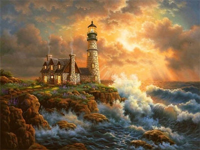 Lighthouse And Nature Art - 5d Diamond Painting Kit