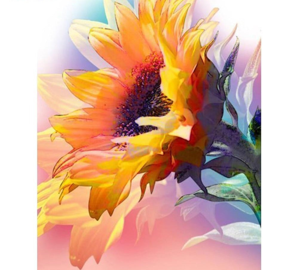 Sunflower Closeup Image - 5d Diamond Painting Kit