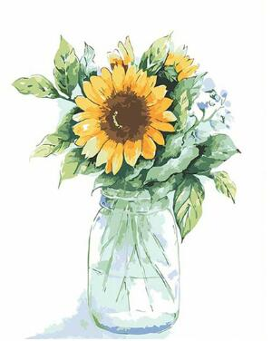 Isolated Sunflower - Paint by Numbers Kit