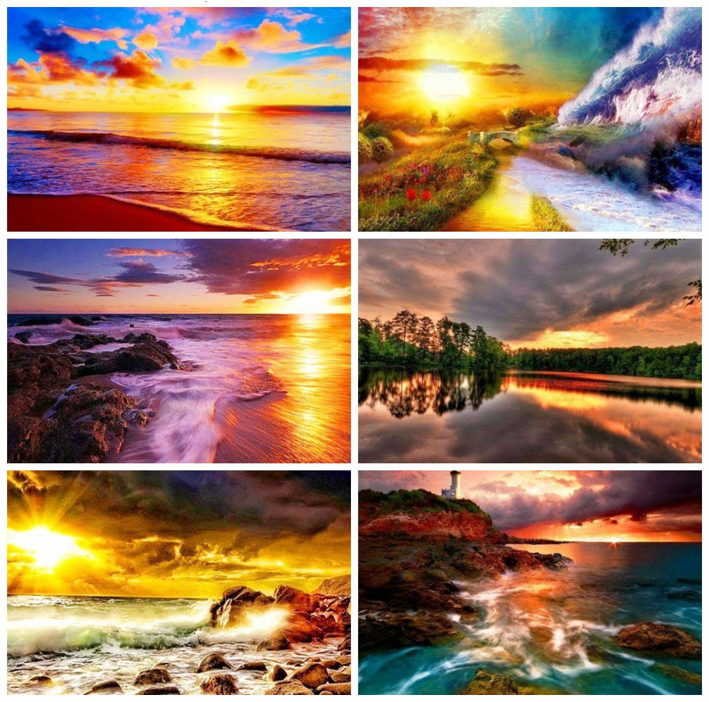 Huge Landscape Collection Set - 5d Diamond Painting Kit