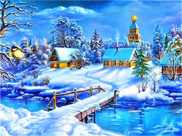 Horse Riding Winter - 5d Diamond Painting Kit