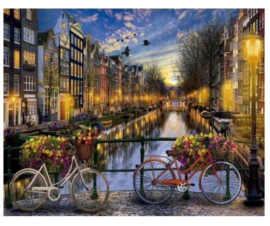 Canals of Amsterdam - Paint by Numbers Kits
