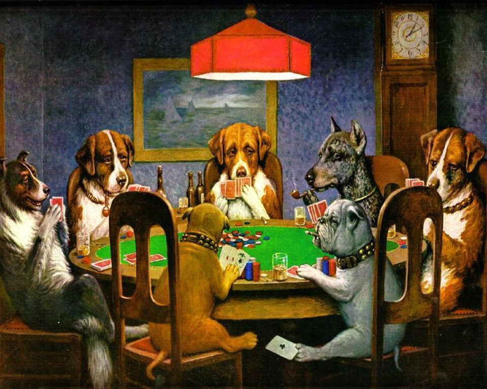 Dogs Playing Poker - Paint by Numbers Kits for Adults