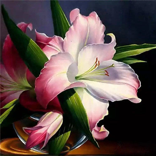 Image Of Pink Flower - 5d Diamond Painting Kit