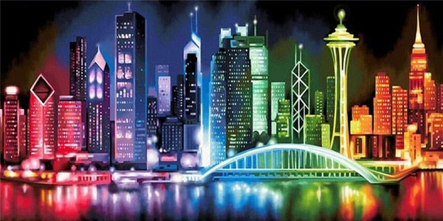 Bright City Lights - 5d Diamond Painting Kit