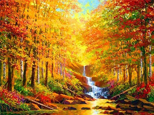 Autumn Scenic - 5d Diamond Painting Kit