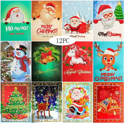 Merry Christmas Art Set - 5d Diamond Painting Kit