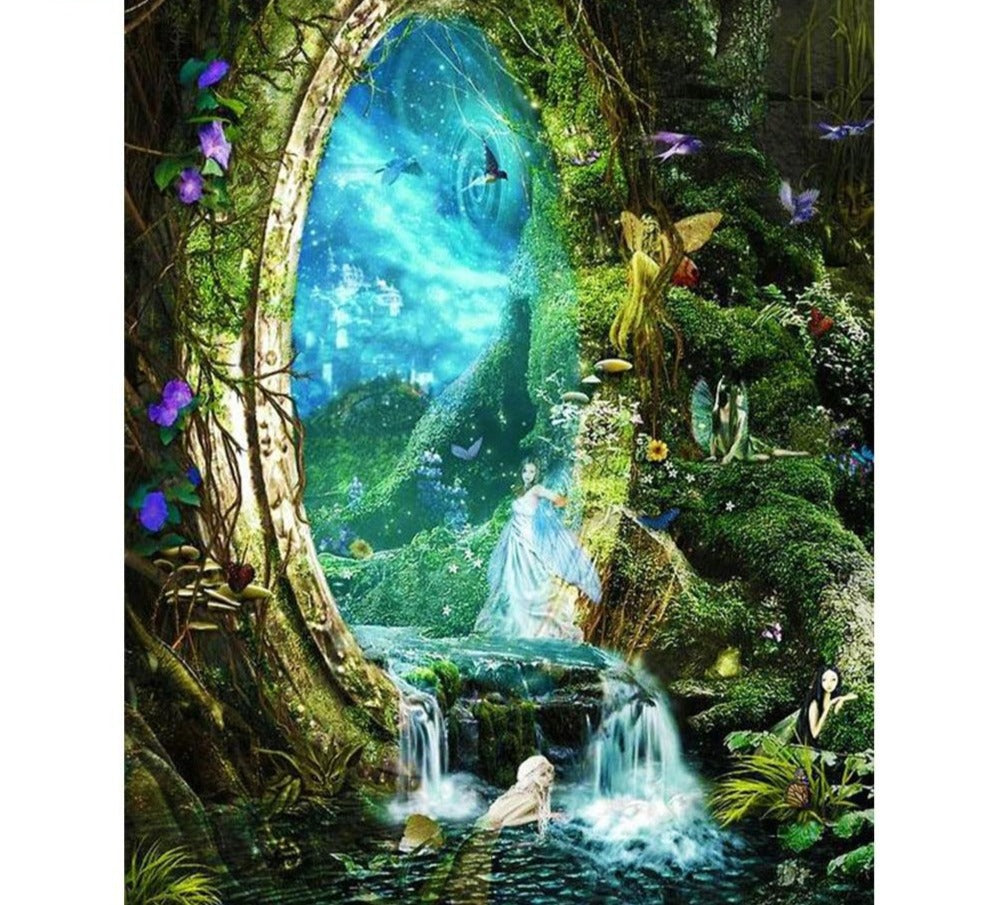 Fantasy World Illustration - 5d Diamond Painting Kit