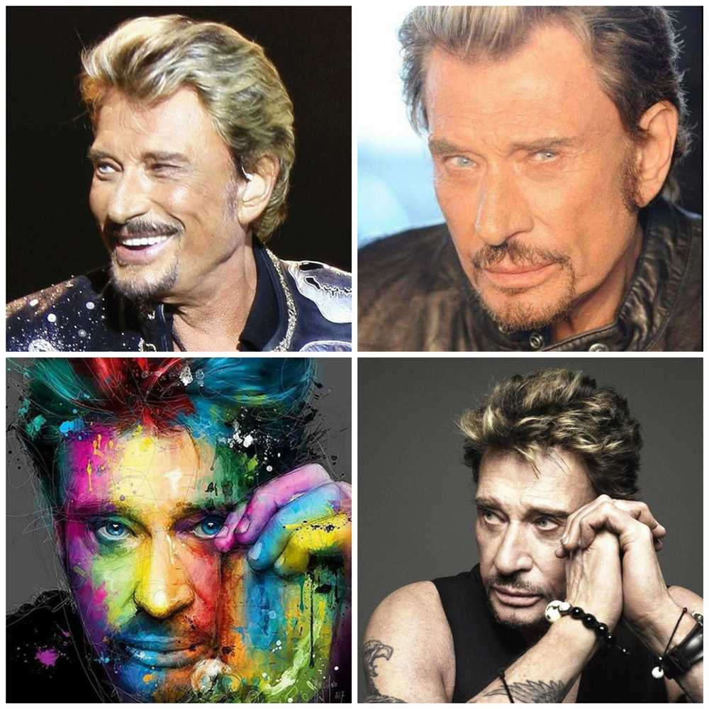 Johnny Hallyday Illustration - 5d Diamond Painting Kit