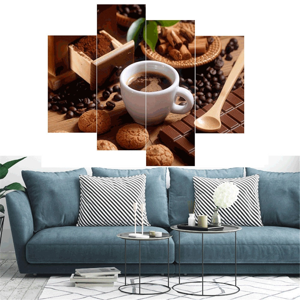 Coffee Cup And Grinder - 5d Diamond Painting Kit