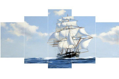 Multi Image Huge Battleship - 5d Diamond Painting Kit