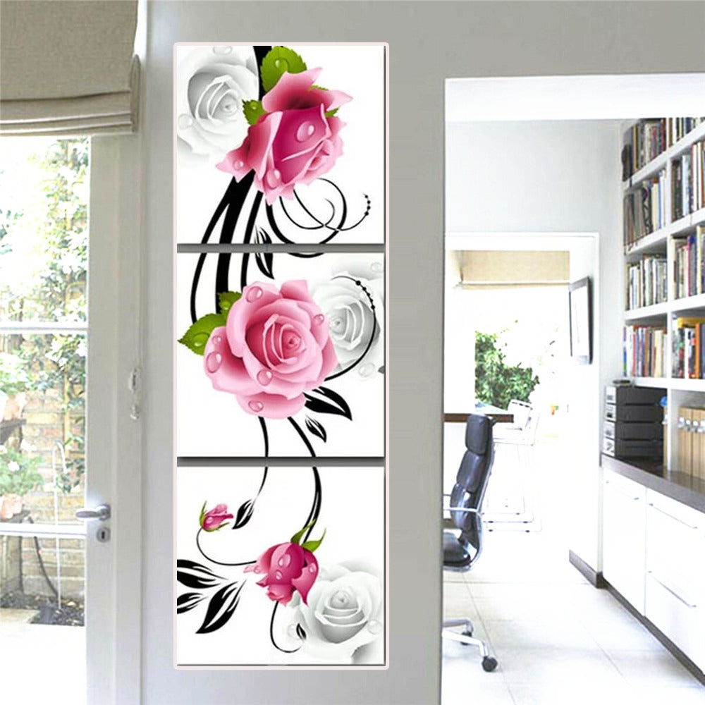 Multi Image Rose Flowers - 5d Diamond Painting Kit
