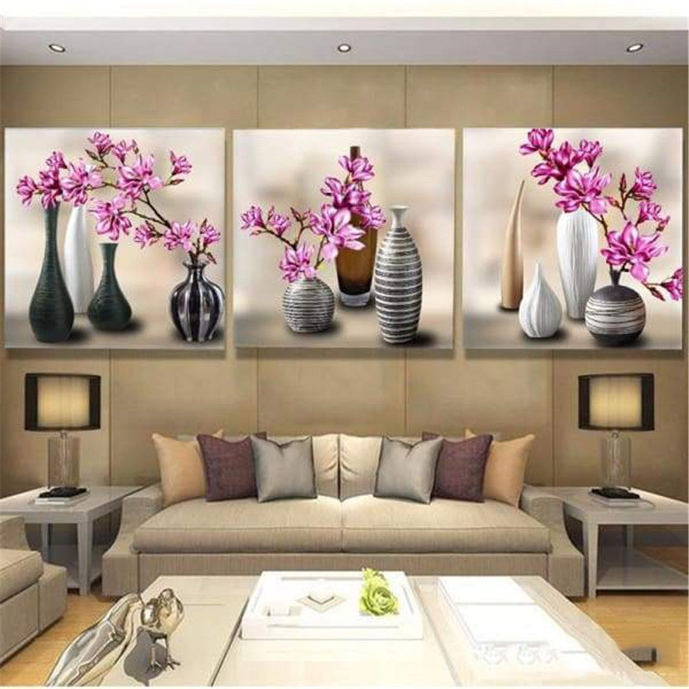 Modern Mosaic Flowers - 5d Diamond Painting Kit