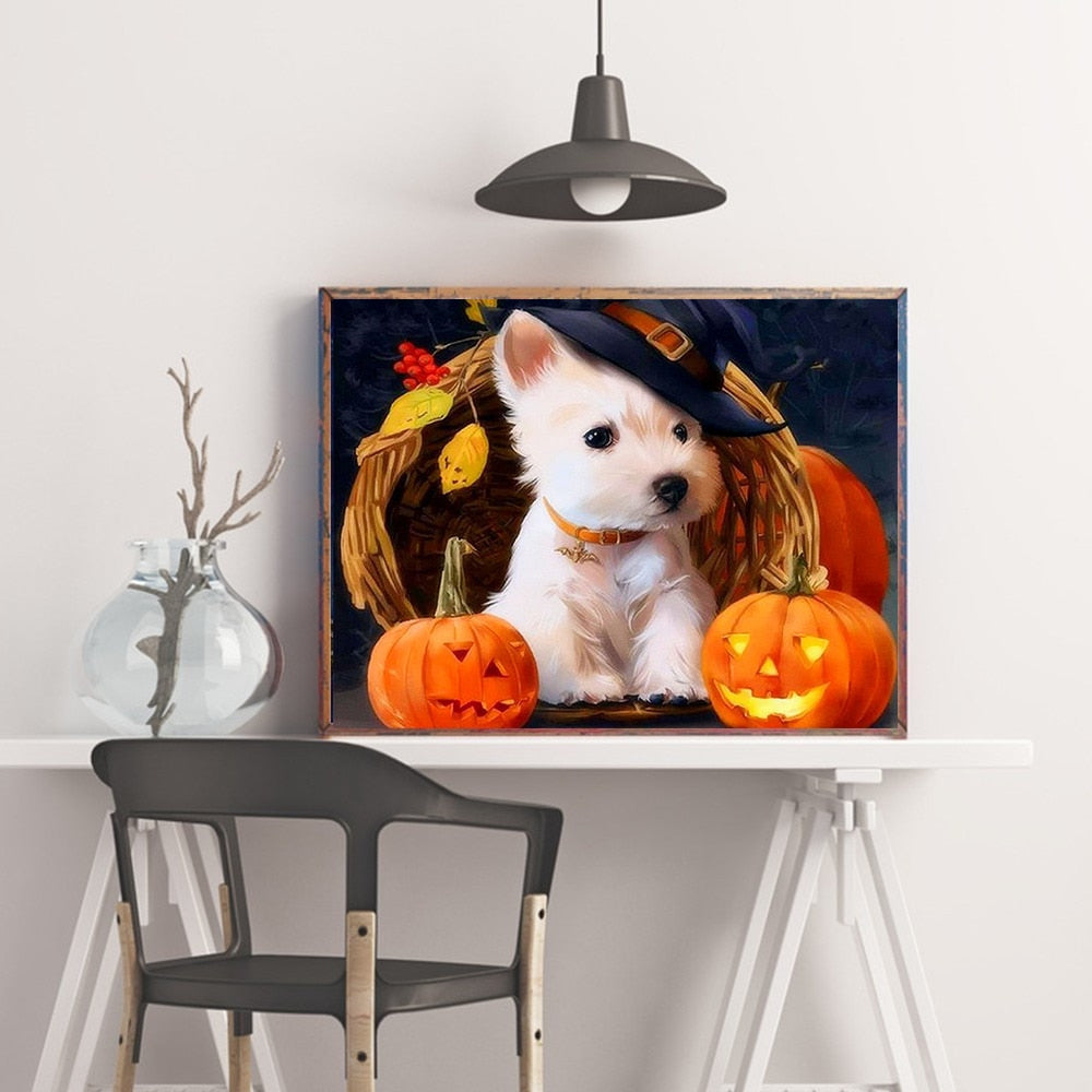 Halloween Puppy - 5d Diamond Painting Kit