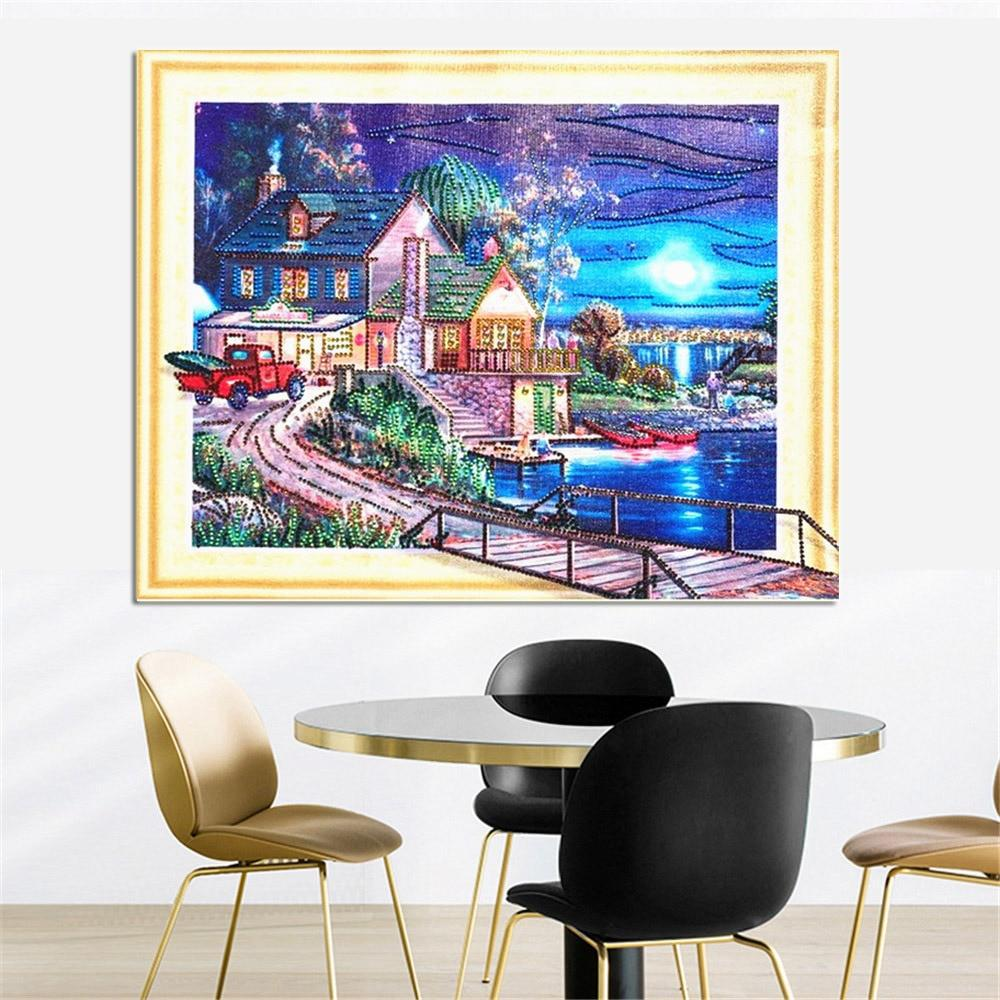 Home in Winter - 5d Diamond Painting Kit