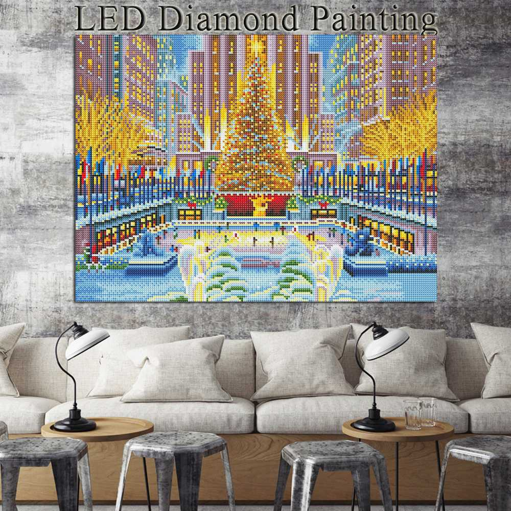 LED Light Landscape - 5d Diamond Painting Kit