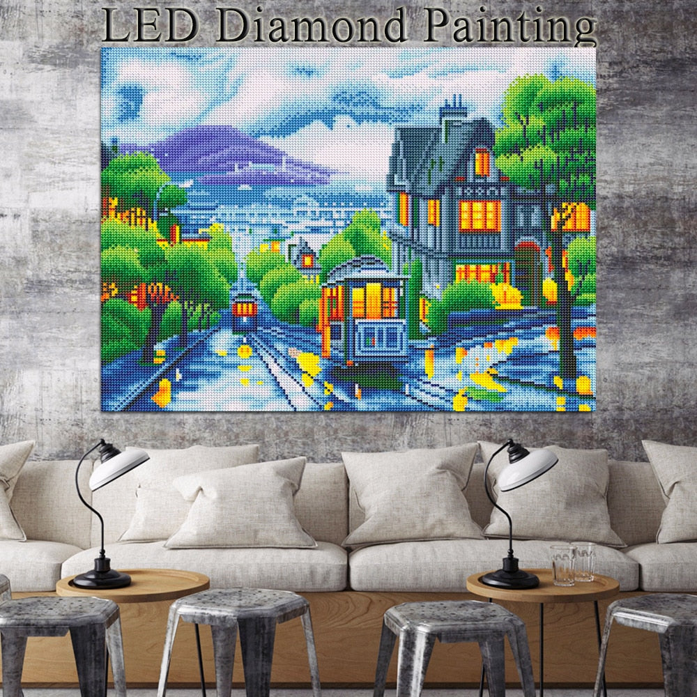 LED Light Scenic - 5d Diamond Painting Kit