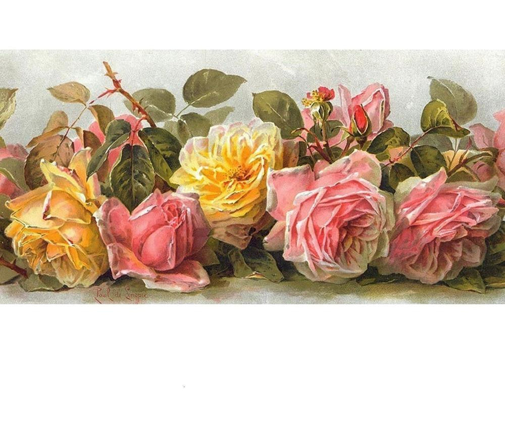 Vintage Roses Illustration Art - 5d Diamond Painting Kit