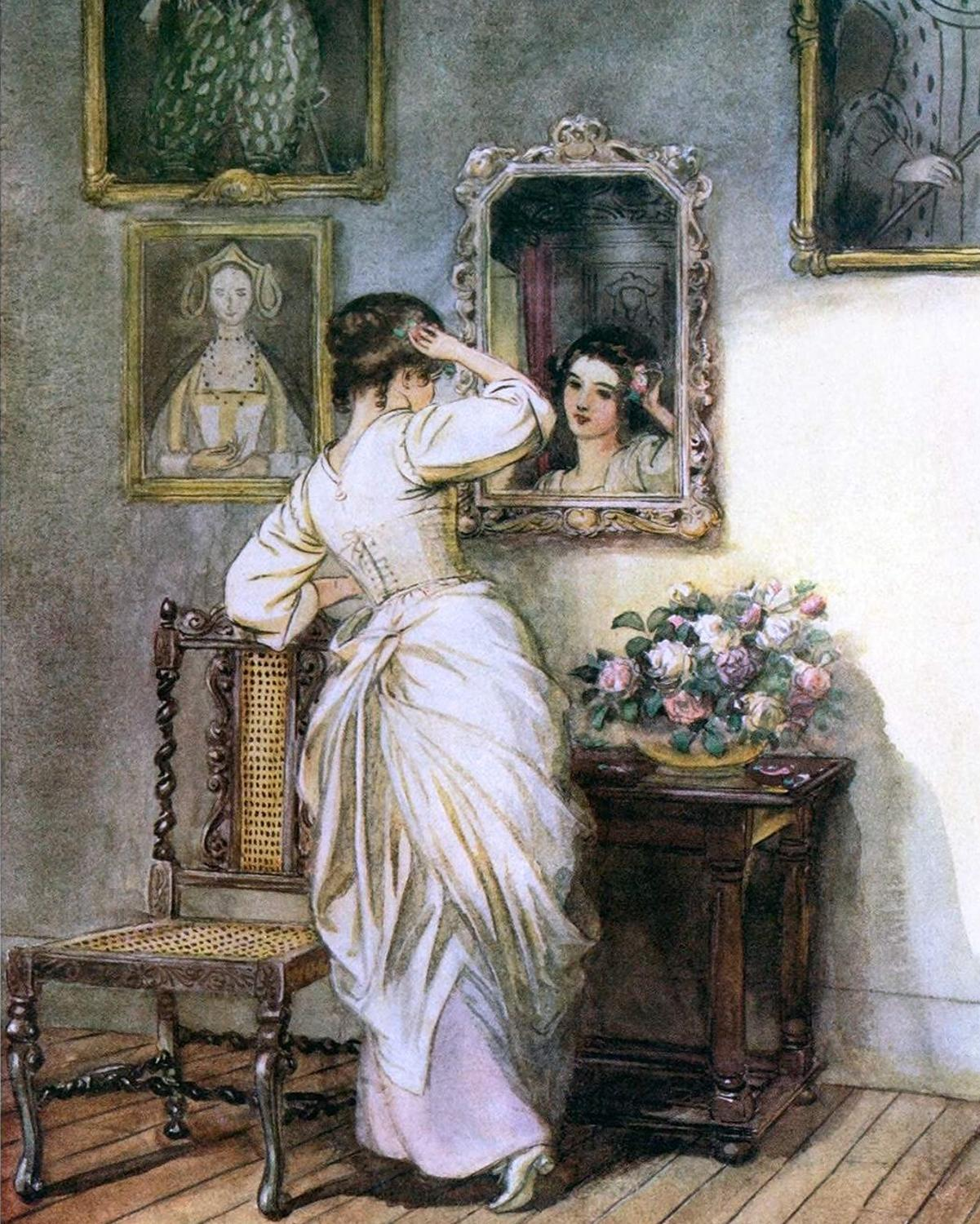 Woman With Mirror - Paint By Numbers Kits