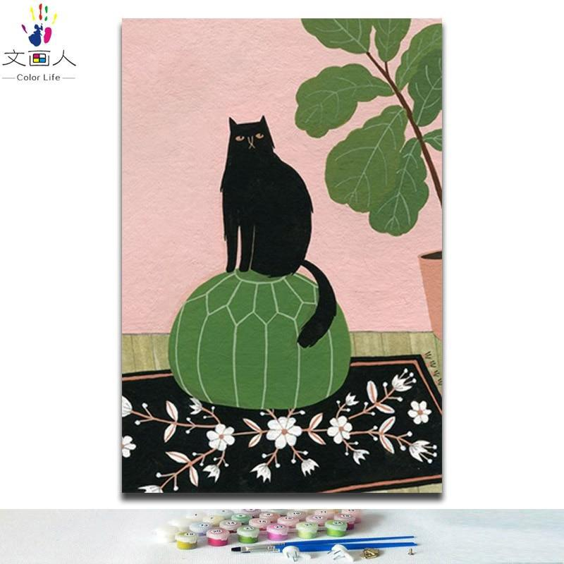 Black Cat Art - Paint By Numbers Kits
