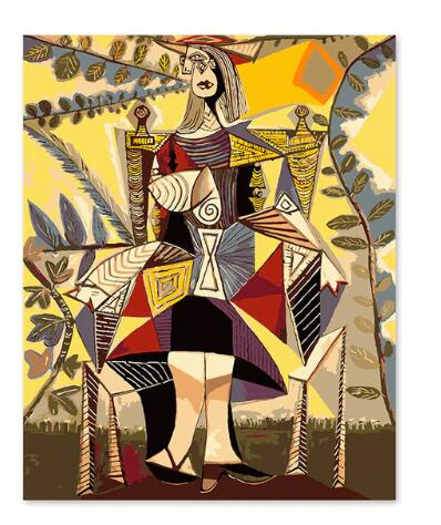 Picasso Standing Lady - Paint by Numbers Kits