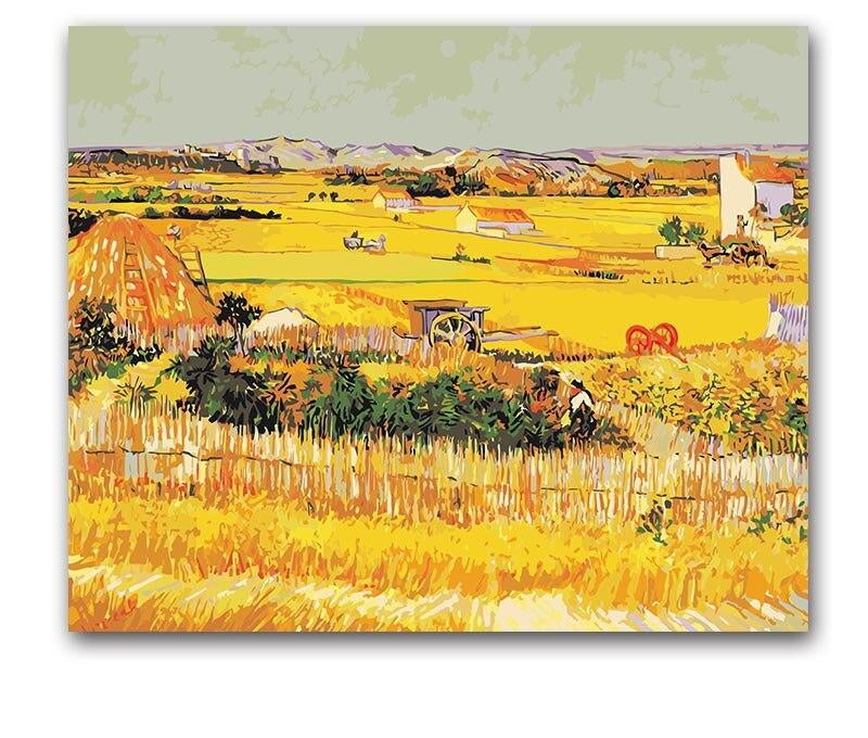 Van Gogh The Harvest - Paint by Numbers Kits