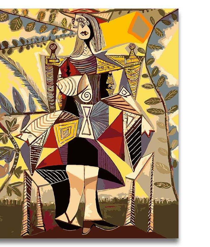 Picasso Abstract Figure - Paint by Numbers Kits